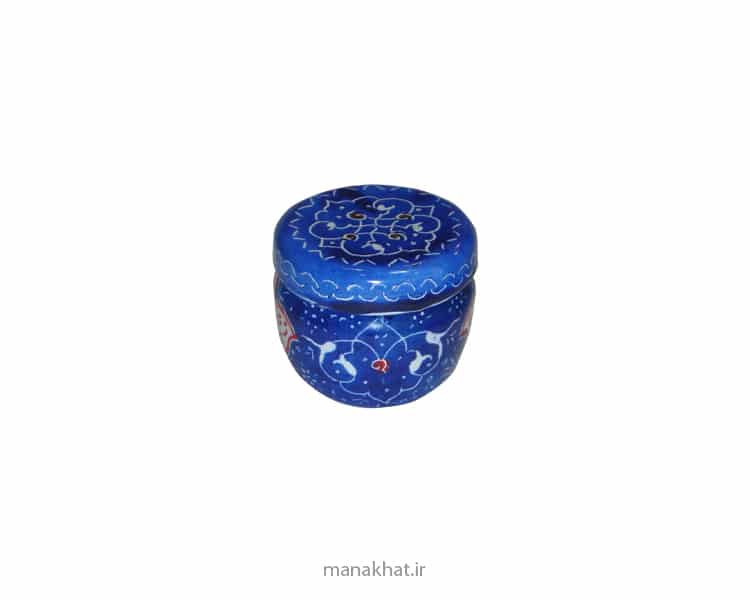 دوات مسی کتابتی میناکاری شده رنگ آبی